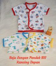 Baju Lengan Pendek BIS Kancing Depan Print Per Seri isi 3 pcs M b00483d778